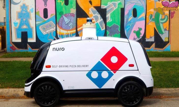 Domino เริ่มใช้รถยนต์ส่งพิซซาอัตโนมัติ